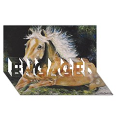 Mustang ENGAGED 3D Greeting Card (8x4)