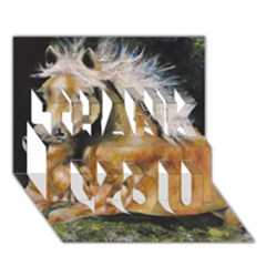 Mustang THANK YOU 3D Greeting Card (7x5)