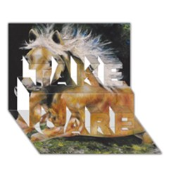 Mustang Take Care 3d Greeting Card (7x5)