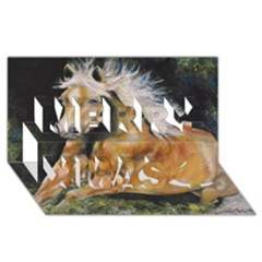 Mustang Merry Xmas 3D Greeting Card (8x4)