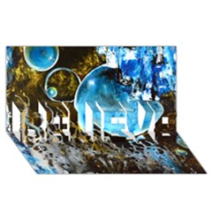 Space Horses Believe 3d Greeting Card (8x4)