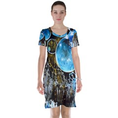Space Horses Short Sleeve Nightdresses