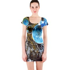 Space Horses Short Sleeve Bodycon Dresses