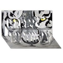 The Eye Of The Tiger Happy Birthday 3d Greeting Card (8x4)