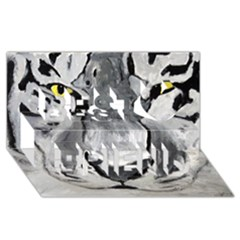 The Eye Of The Tiger Best Friends 3d Greeting Card (8x4)