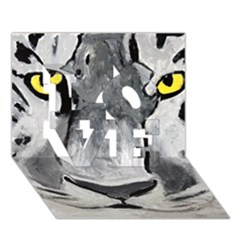 The Eye Of The Tiger Love 3d Greeting Card (7x5)