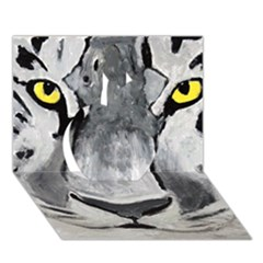 The Eye Of The Tiger Apple 3d Greeting Card (7x5)