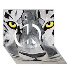The Eye Of The Tiger Peace Sign 3d Greeting Card (7x5)