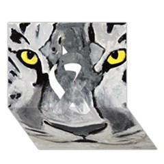 The Eye Of The Tiger Ribbon 3d Greeting Card (7x5)