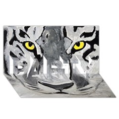 The Eye Of The Tiger Party 3d Greeting Card (8x4)