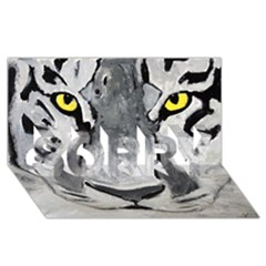 The Eye Of The Tiger SORRY 3D Greeting Card (8x4)