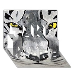 The Eye Of The Tiger Take Care 3d Greeting Card (7x5)