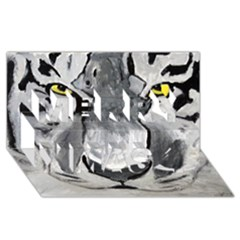 The Eye Of The Tiger Merry Xmas 3D Greeting Card (8x4)