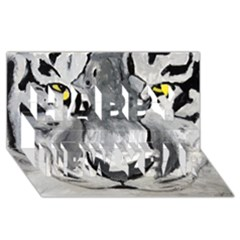 The Eye Of The Tiger Happy New Year 3d Greeting Card (8x4)