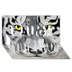 The Eye Of The Tiger Laugh Live Love 3D Greeting Card (8x4)