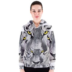 The Eye Of The Tiger Women s Zipper Hoodies