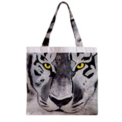 The Eye Of The Tiger Zipper Grocery Tote Bags