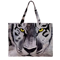 The Eye Of The Tiger Zipper Tiny Tote Bags