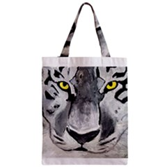 The Eye Of The Tiger Zipper Classic Tote Bags