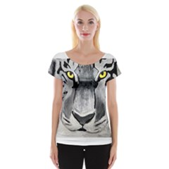 The Eye Of The Tiger Women s Cap Sleeve Top
