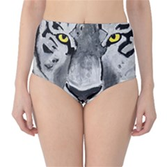 The Eye Of The Tiger High-Waist Bikini Bottoms