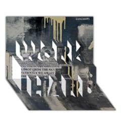 The Dutiful Rise Work Hard 3d Greeting Card (7x5)