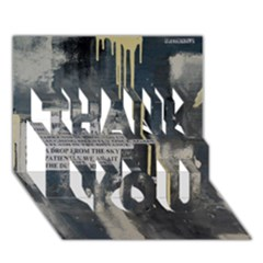 The Dutiful Rise Thank You 3d Greeting Card (7x5)
