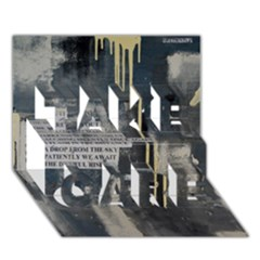 The Dutiful Rise TAKE CARE 3D Greeting Card (7x5)