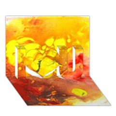 Fire, Lava Rock I Love You 3d Greeting Card (7x5)