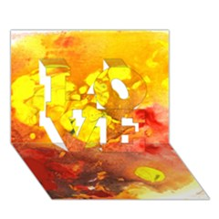 Fire, Lava Rock LOVE 3D Greeting Card (7x5)