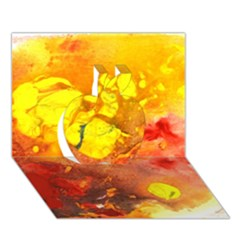 Fire, Lava Rock Apple 3d Greeting Card (7x5)