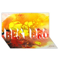 Fire, Lava Rock BEST BRO 3D Greeting Card (8x4)