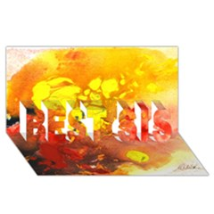 Fire, Lava Rock Best Sis 3d Greeting Card (8x4)