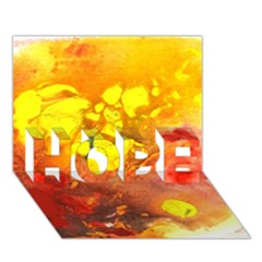 Fire, Lava Rock Hope 3d Greeting Card (7x5)