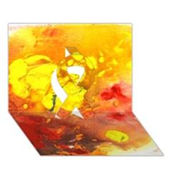 Fire, Lava Rock Ribbon 3d Greeting Card (7x5)