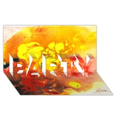 Fire, Lava Rock PARTY 3D Greeting Card (8x4)