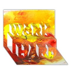 Fire, Lava Rock WORK HARD 3D Greeting Card (7x5)