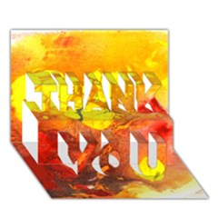 Fire, Lava Rock THANK YOU 3D Greeting Card (7x5)