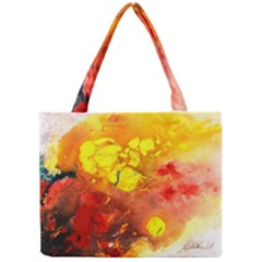 Fire, Lava Rock Tiny Tote Bags