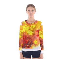 Fire, Lava Rock Women s Long Sleeve T-shirts
