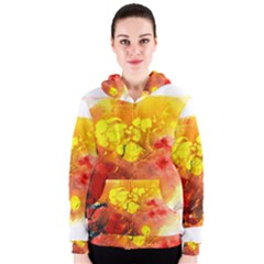 Fire, Lava Rock Women s Zipper Hoodies