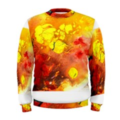 Fire, Lava Rock Men s Sweatshirts