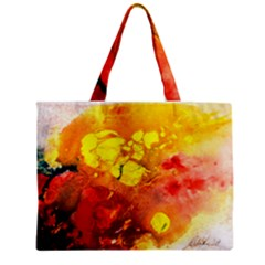Fire, Lava Rock Zipper Tiny Tote Bags
