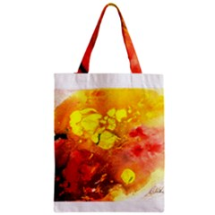 Fire, Lava Rock Zipper Classic Tote Bags