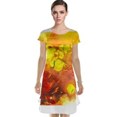 Fire, Lava Rock Cap Sleeve Nightdresses