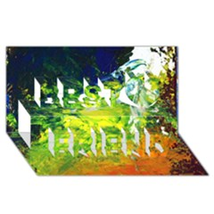 Abstract Landscape Best Friends 3d Greeting Card (8x4)