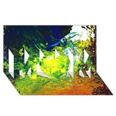 Abstract Landscape MOM 3D Greeting Card (8x4)