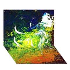Abstract Landscape Clover 3D Greeting Card (7x5)