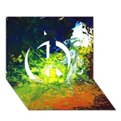 Abstract Landscape Peace Sign 3d Greeting Card (7x5)
