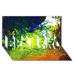 Abstract Landscape Best Bro 3d Greeting Card (8x4)